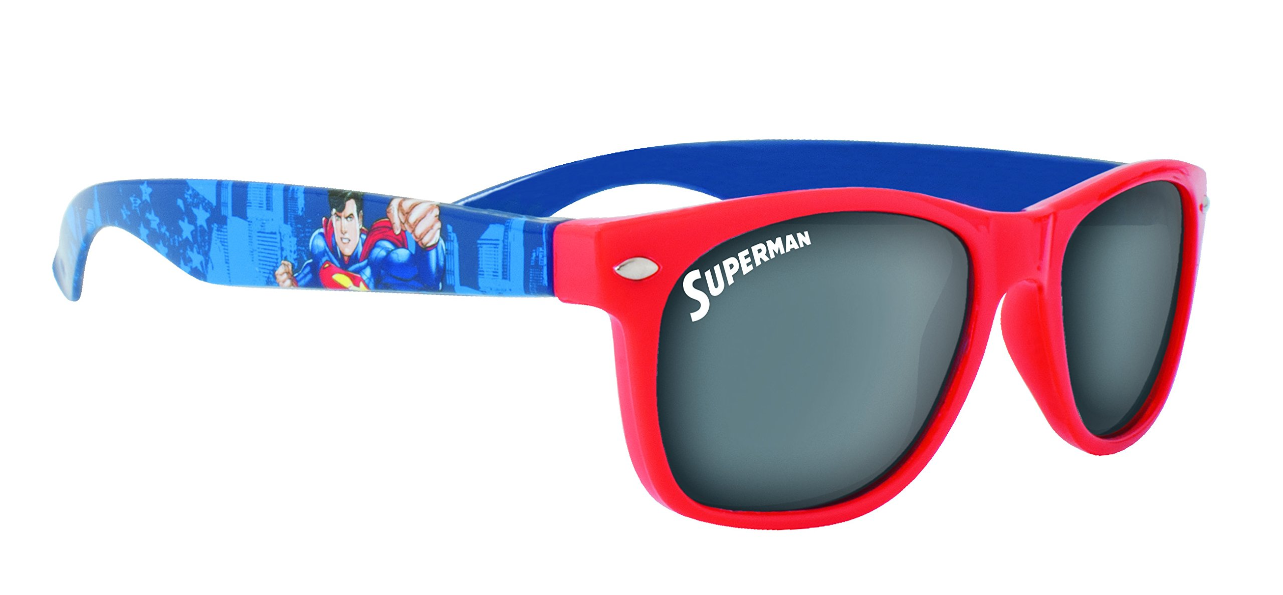 Superman Children's Red and Blue Plastic Sunglasses