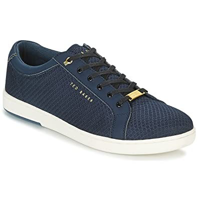 25005ab53ab0 Ted Baker Men s Barces Textile Lace Up Casual Trainer Dark Blue-Navy ...