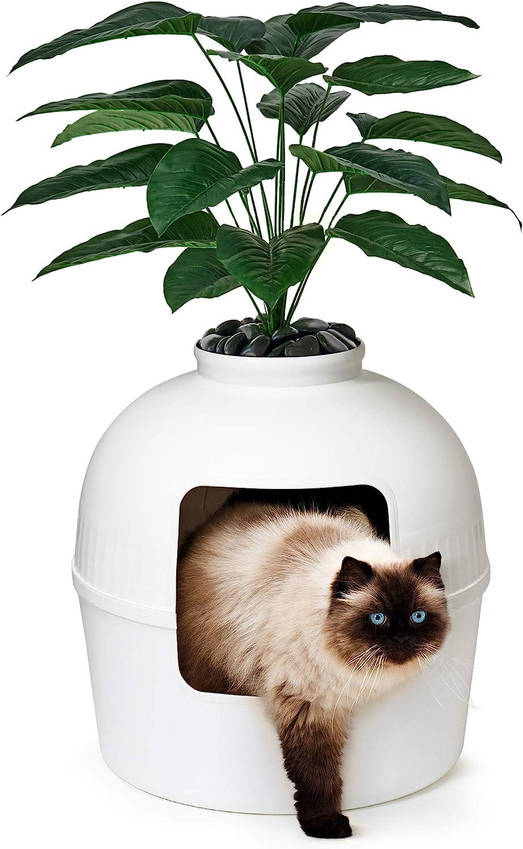 Bundle & Bliss Secret Litter Box - Premium Hidden Litter Box Enclosure, Perfect for Large Cats, Doubles as Cat Furniture or Covered Cat Litter Box Furniture, Best Enclosed Cat Box Furniture