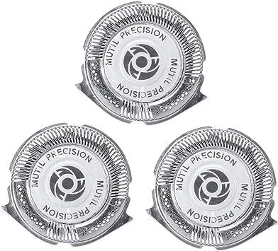 3 Unids / set Cabezales de afeitado Cabezales de afeitado de repuesto Hojas de afeitar de precisión múltiple para Philips Norelco Serie 5000: Amazon.es: Salud y cuidado personal