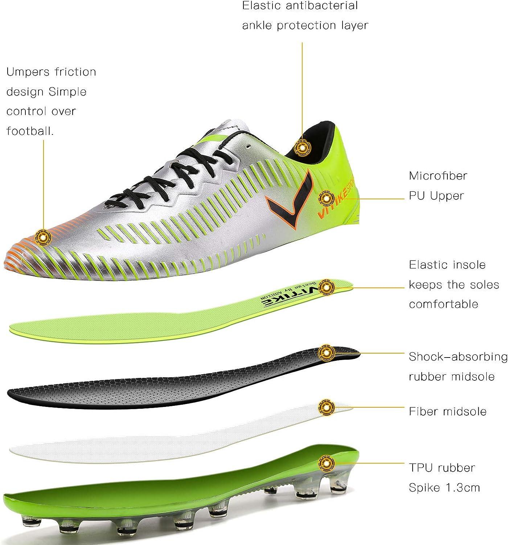 Chaussures de Football Mixte Enfant Comp/étition Adolescents Profession Chaussures de Sporty Football,Multicolore,pour Homme//Femme//Fille//Gar/çon