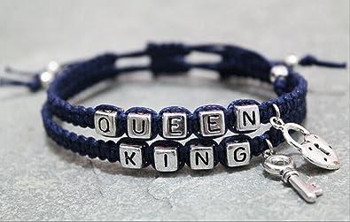 Couples Bracelet,king and Queen Bracelet, Boyfriend Girlfriend Jewelry,  Lover Bracelet, Anniversary