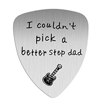 I Couldn/'t Pick A Better Dad Anniversary Gift for Musician Guitar Player Birthday Fathers Day Thanksgiving Day Christmas Gifts Guitar Pick