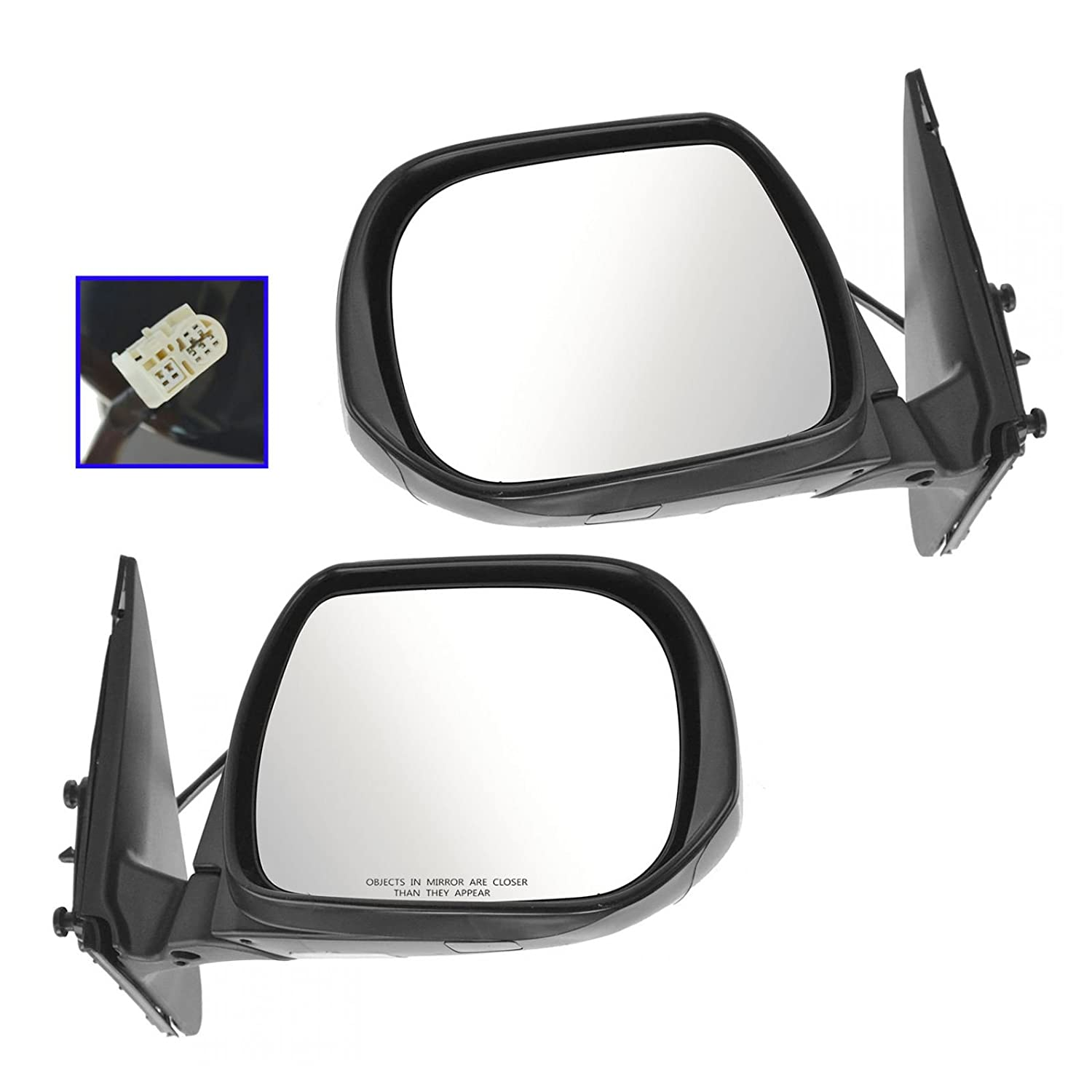 Mirror Power Heated Black Textured Driver Side Left LH for 09-13 Toyota Corolla
