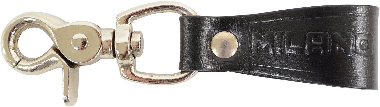 Men S Leather Belt Loop Keyring Clip Keychain Key Holder At Amazon Men S Clothing Store