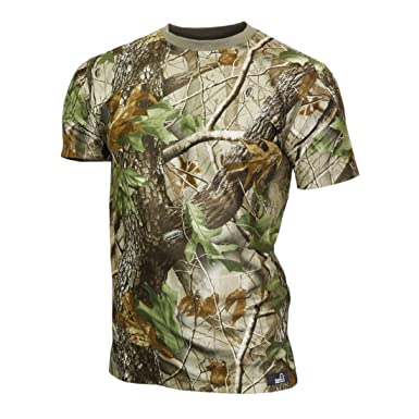 5a405486953cc Raptor hunting solutions Mens Realtree HD Camo T-Shirt: Amazon.co.uk:  Clothing