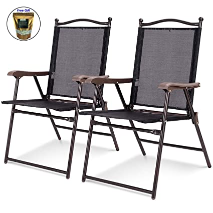 Amazing Amazon Com Set Of 2 Patio Folding Sling Back Camping Deck Gmtry Best Dining Table And Chair Ideas Images Gmtryco