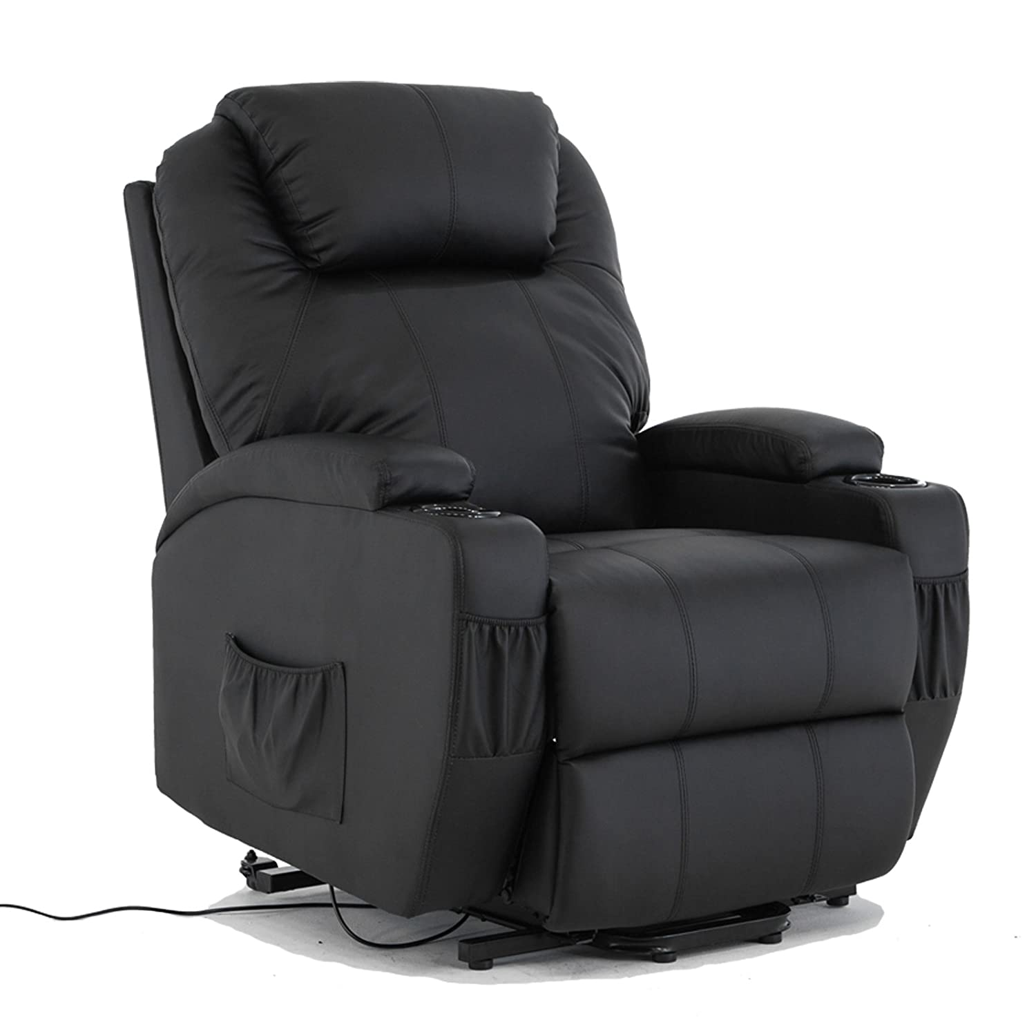 Amazon.com Power Lift Real Leather Recliner chair Wall Hugger Lounge Seat Black Kitchen \u0026 Dining  sc 1 st  Amazon.com : dream lounger recliner - islam-shia.org