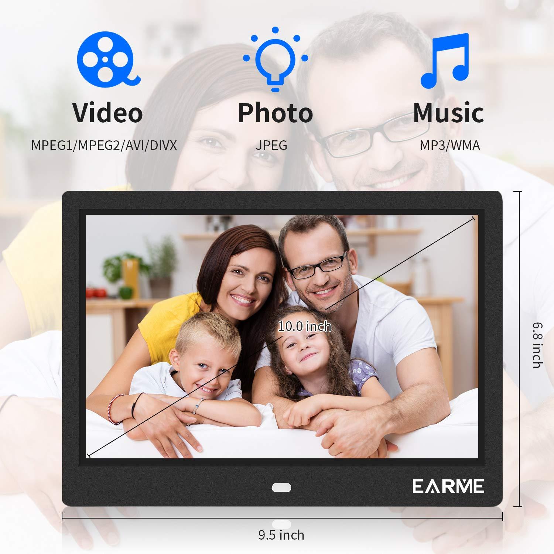 800 MP3 MP4 con Telecomando Regalo EarMe Cornice Digitale 10 Polici Schermo LCD 1280