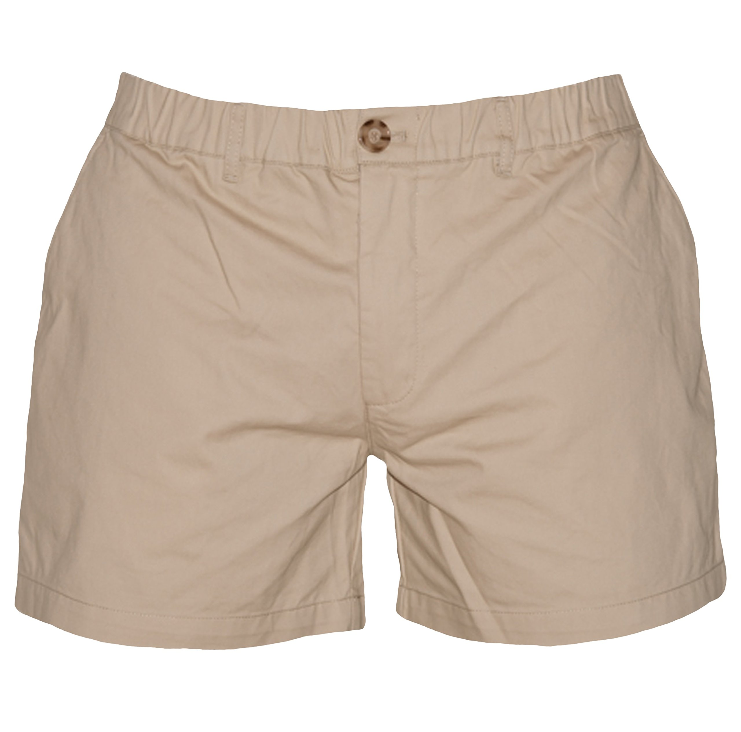 Meripex Apparel Men's 5.5'' Inseam Elastic-Waist Shorts (Medium, Original Khaki)