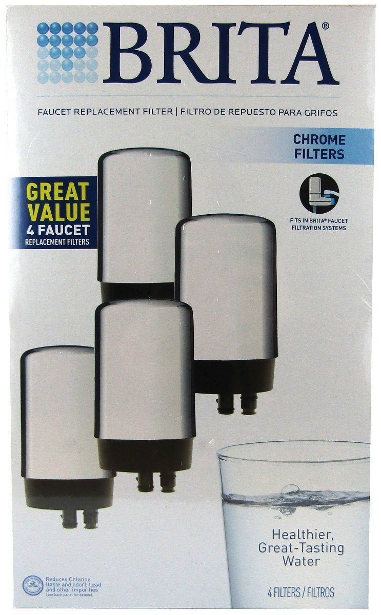 Amazon.com: Brita On Tap Replacement Filters, 4-Pack, Chrome: Home ...