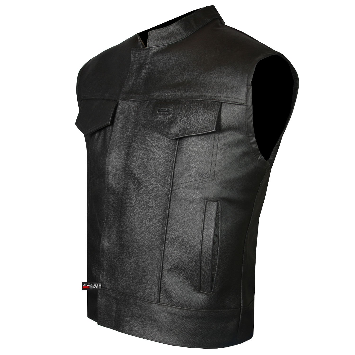 SOA Men's Leather Vest Anarchy Motorcycle Biker Club Concealed Carry Outlaws XL
