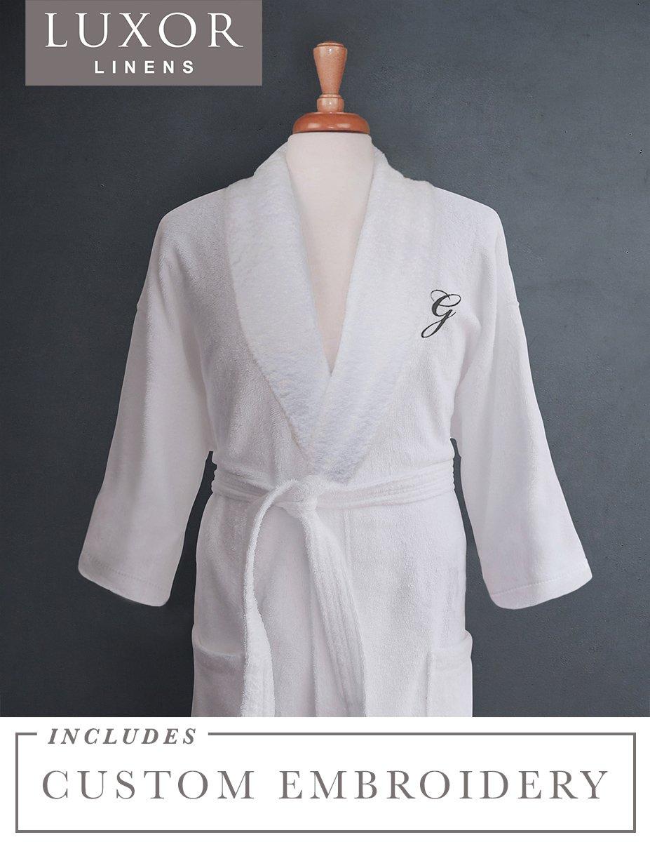 b22fd49249 Amazon.com  Luxor Linens - Terry Cloth Bathrobes - 100% Egyptian Cotton -  Luxurious