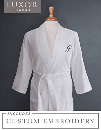 Amazon.com  Luxor Linens - Terry Cloth Bathrobes - 100% Egyptian ... 608a9f445