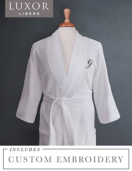 for sale hot-selling fashion for sale Luxor Linens - Terry Cloth Bathrobes - 100% Egyptian Cotton His & Her  Bathrobe Set - Luxurious, Soft, Plush Durable Set of Robes (Single Robe,  Custom ...