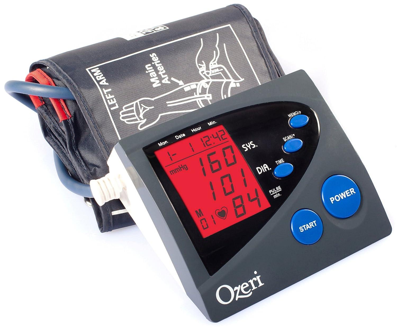 Ozeri CardioTech Premium Series BP4M Digital Arm Blood Pressure Monitor with Hypertension Color Alert Technology by Ozeri: Amazon.es: Salud y cuidado ...
