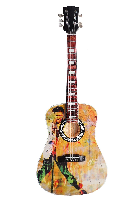 Elvis Presley –  Tribute Holz Miniatur-Gitarre Nachbildung (shoponica) ML