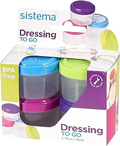 Sistema To-Go Collection 1.18 oz. Salad Dressing Containers