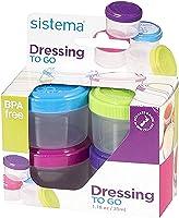 Sistema 21470 Hangsell Dressing Pot, 4-Pack