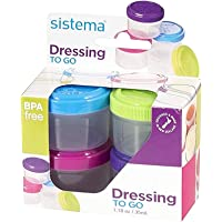 Sistema to GO 21470 35ml Dressing Pot, Clear