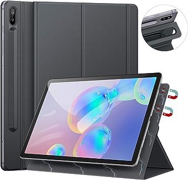 Comprar Ztotops Funda for Samsung Galaxy Tab S6 10.5 2019 SM-T860/T865, con Soporte de Pencil, Respaldo magnético Inteligente Smart Cover Auto-Sueño/Estela para Samsung Galaxy Tab S5e 10.5 Pulgadas, Gris