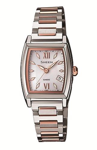 606ebef274 [カシオ]CASIO 腕時計 SHEEN シーン トノー型ケースモデル 電波ソーラーウォッチ SHW-