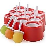 Zoku Slow Pops–leicht zu entfernen Silikon Ice Lolly Formen mit Drip Guards