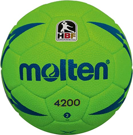 MOLTEN hx4200 - Pelota de Balonmano, Color Verde, Handball H1x4200 ...