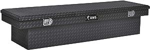 UWS EC10442 69-Inch Gloss Black Heavy-Wall Aluminum Truck Tool Box, RigidCore Lid