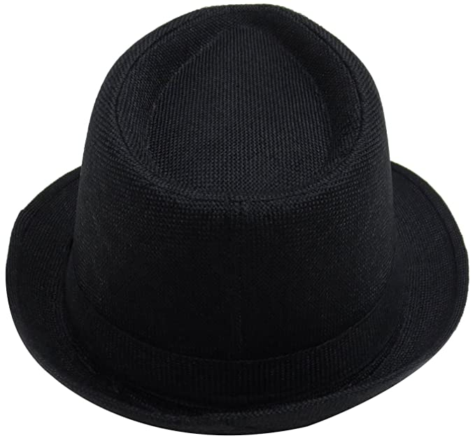 fcd03683981 Simplicity Women Men Summer Gangster Trilby Straw Fedora Hat Cap W Brim