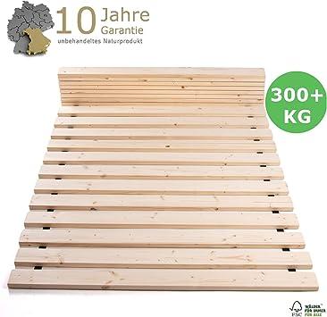 TUGA-Holztech - Somier enrrollable, 20 mm x 100 cm x 200 cm, hasta 200 kg de carga superficial