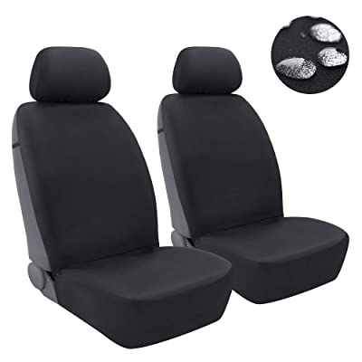 Elantrip Waterproof Neoprene Front Seat Cover for Cars Universal Car Seat Cover Protector Auto Trunk Black 2 PCS: Automotive
