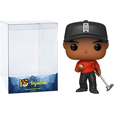 Tig e r Woo d s: Funk o Pop! Golf Vinyl Figure Bundle with 1 Compatible 'ToysDiva' Graphic Protector (001 - 44715 - B): Toys & Games