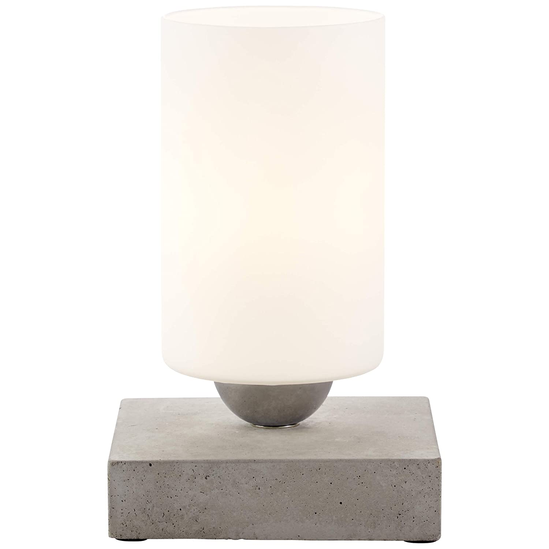Brilliant 23047 70 Tischleuchte, Glas Beton, grau weiß