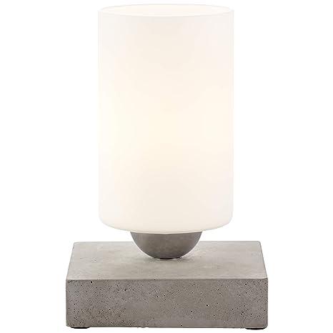 Brilliant 23047/70 lámpara de mesa, vidrio/hormigón, Gris ...