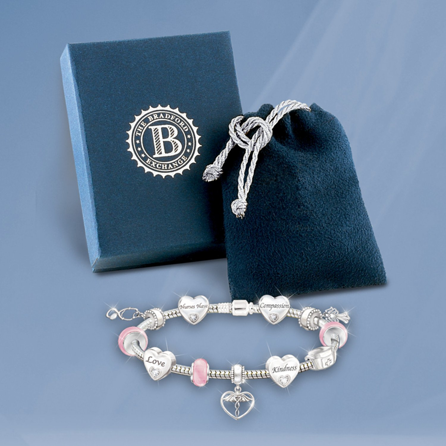 A Nurse's Heart Charm Bracelet by The Bradford Exchange by Bradford Exchange (Image #5)