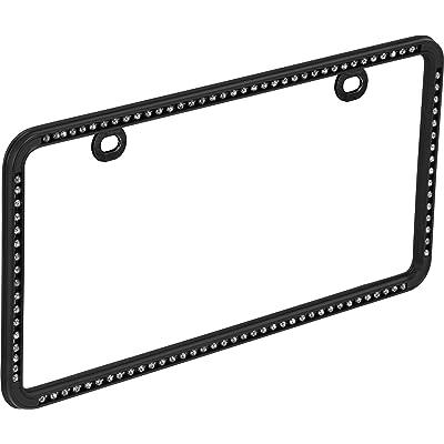 Bell Automotive 22-1-46501-8 Universal Black Diamond Design License Plate Frame: Automotive