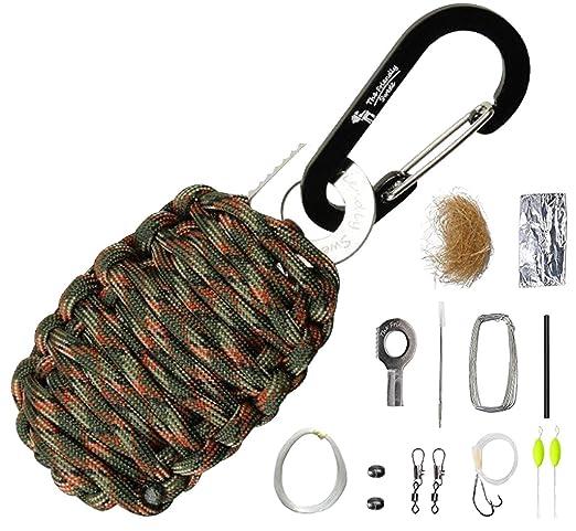 """119 opinioni per The Friendly Swede Kit di Sopravvivenza in Paracord """"Grenade"""" con Moschettone,"""
