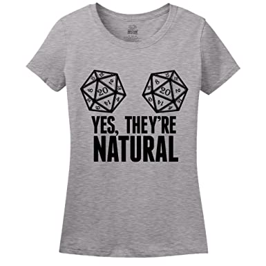 60f036ea Yes, They're Natural D&D T-Shirt Athletic Heather Small
