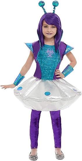 Fancy Ole - Disfraz de Alien para niña, Disfraz de Mono exótico ...