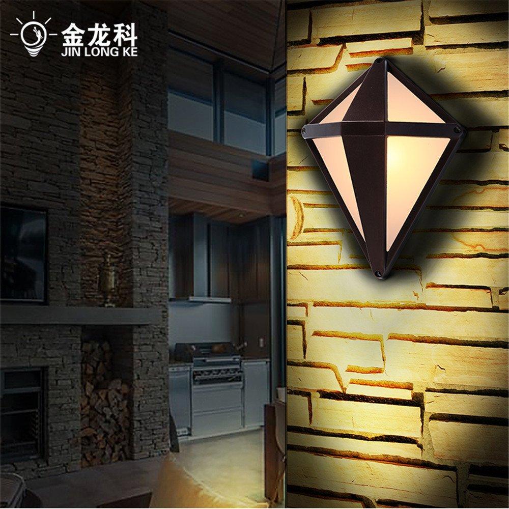 DengWu lampada da parete  L'aspetto del diamante LED allaperto giardino luci da parete impermeabile luce giardino cortile luminoso si accende (23,526cm) corsia