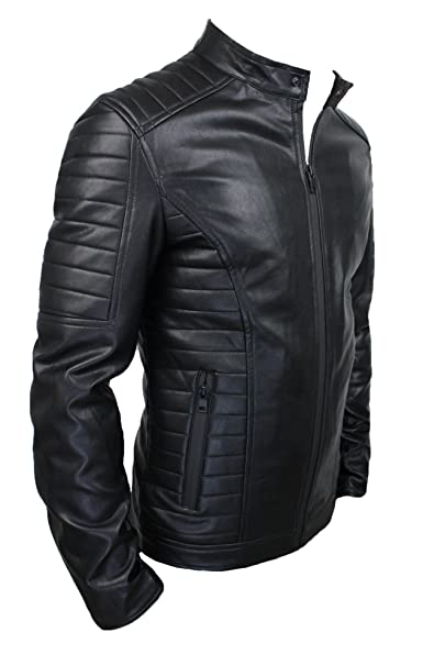 giacca ecopelle nero uomo