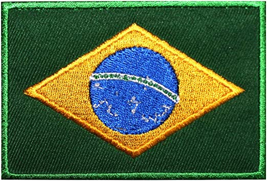 Parche bordado con la bandera nacional de Brasil, para coser o planchar, para ropa, etc.: Amazon.es: Hogar