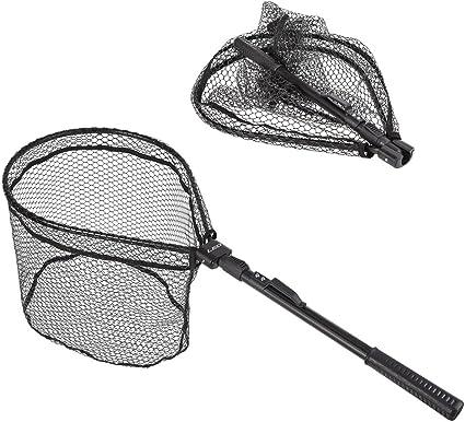 Telescopic Fishing Landing Net Aluminum Alloy Frame Anti Hook Landing Nets LOT