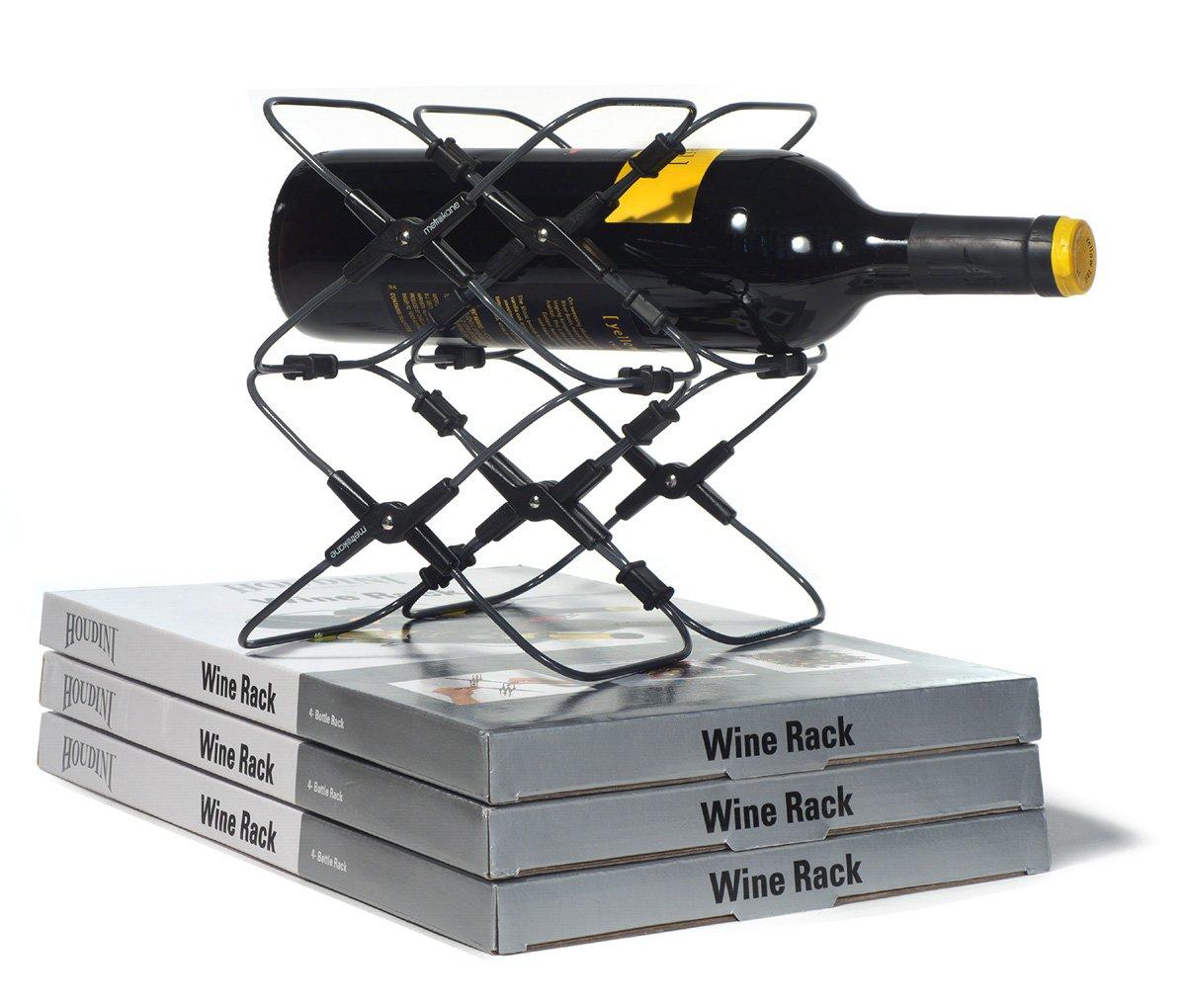 amazoncom houdini expandable wine rack wine bottle rack in fridge kitchen u0026 dining