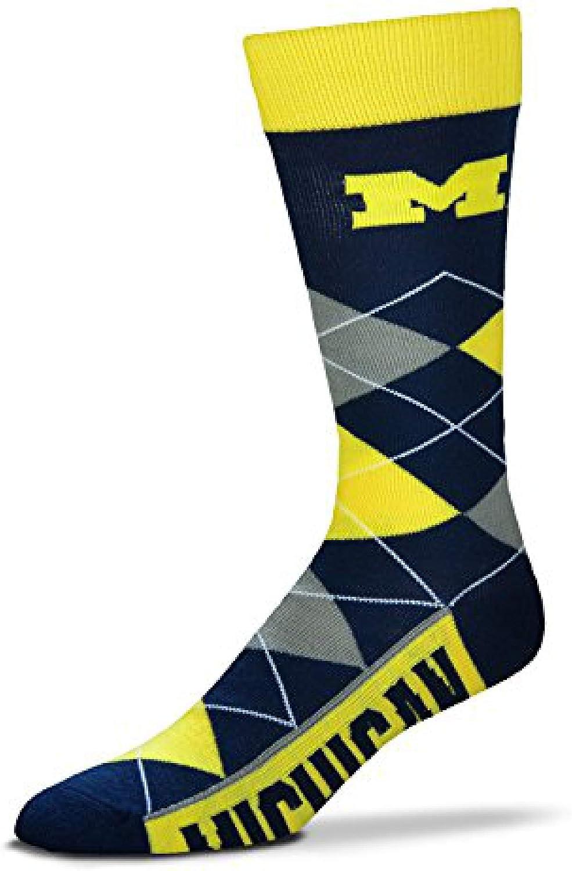 One Size Fits Most /… NCAA Michigan Wolverines Argyle Unisex Crew Cut Socks