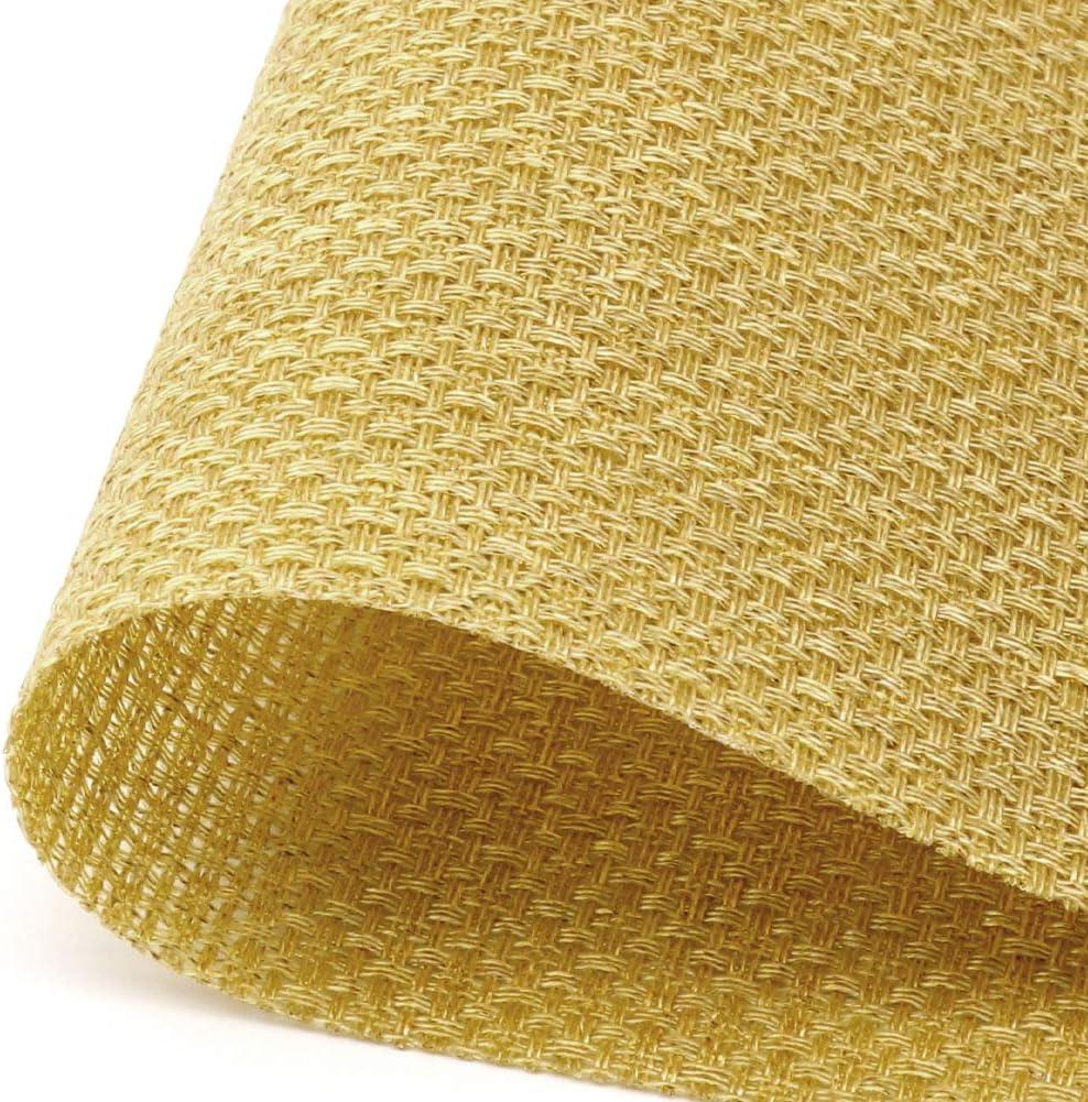 SueH Design Gewebte Platzsets//Tischsets 8er Set Vinyl 45 30 cm Gold