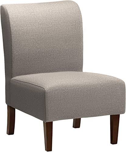 Amazon Brand Stone Beam Lummi Modern Armless Living Room Accent Chair, 21.6 W, Storm Grey