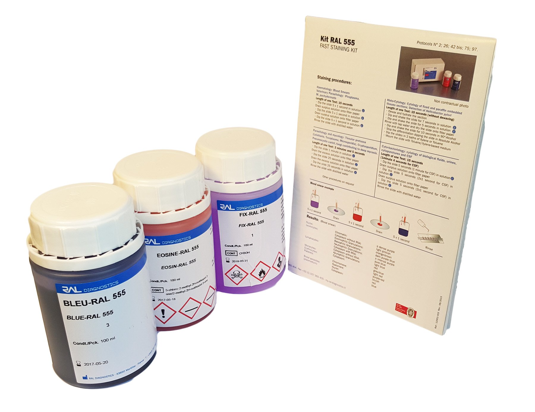 RAL 555 - Rapid May Grunwald Giemsa Staining Kit
