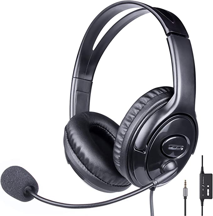 Professional Cup Funny Headset Wired Microphone Mixing High end Headphone Black